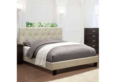 Image for Leeroy Ivory Queen Platform Bed