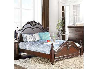 Mandura Cherry Queen Poster Platform Bed