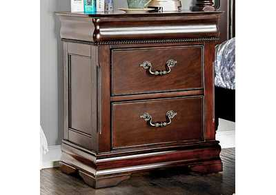 Mandura Cherry Nightstand,Furniture of America