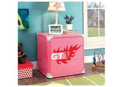 Image for Power Racer Pink Metal Nightstand