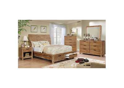 Image for Dion Weathered Light Oak California King Storage Bed