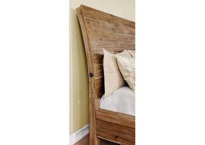 Dion Weathered Light Oak California King Storage Bed,Furniture of America