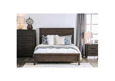 Rexburg Wire-Brushed Rustic Brown Queen Bed,Furniture of America