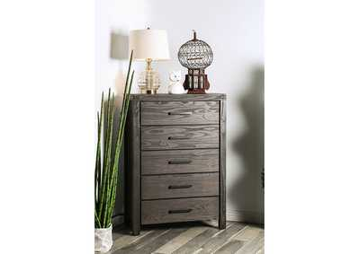 Rexburg Wire-Brushed Rustic Brown Chest,Furniture of America