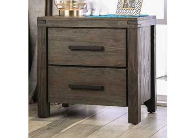 Rexburg Wire-Brushed Rustic Brown Night Stand,Furniture of America