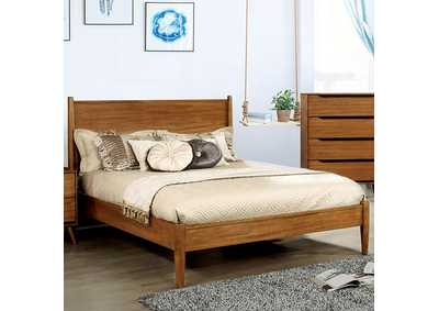 Lennart Oak Queen Platform Bed