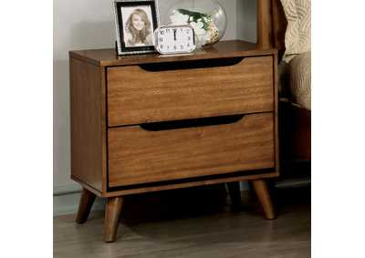 Lennart Oak Night Stand,Furniture of America