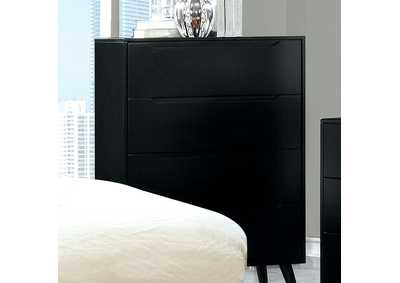 Lennart II Black Drawer Chest,Furniture of America