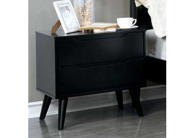 Lennart II Black Nightstand,Furniture of America