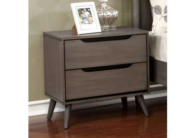 Lennart Gray Nightstand,Furniture of America
