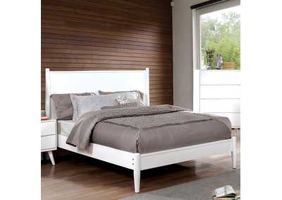 Lennart White Queen Bed,Furniture of America