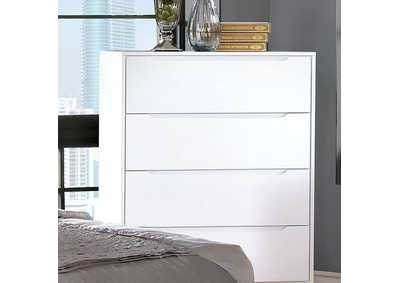 Lennart II White Drawer Chest,Furniture of America