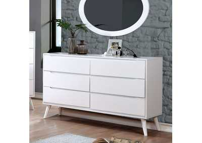 Lennart II White Dresser,Furniture of America