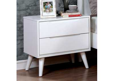 Lennart II White Nightstand,Furniture of America