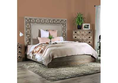 Markos Weathered Light Oak Eastern King Bed