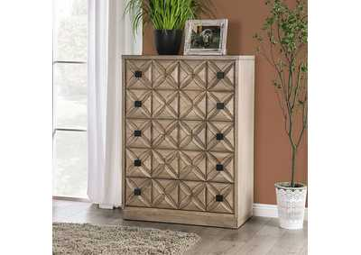 Markos Weathered Light Oak Chest,Furniture of America