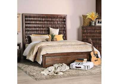 Image for Eutropia Warm Chestnut Queen Platform Bed