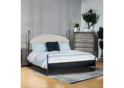 Image for Sinead Gun Metal Twin Upholstered Poster Bed