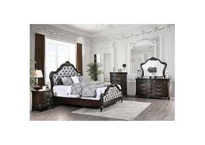 Bethesda Espresso Upholstered Queen Panel Bed