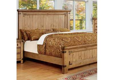 Pioneer Weathered Elm Queen Platform Bed