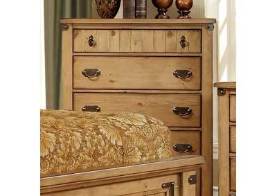 Pioneer Weathered Elm Drawer Chest,Furniture of America