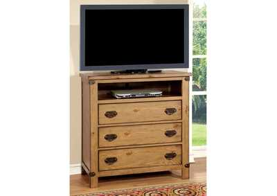 Image for Pioneer Weathered Elm Media Chest
