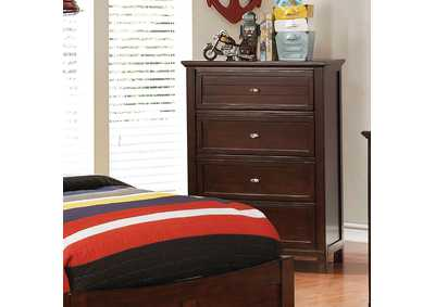 Brogan Brown Cherry Chest,Furniture of America
