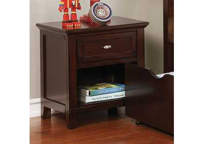 Brogan Brown Cherry Night Stand