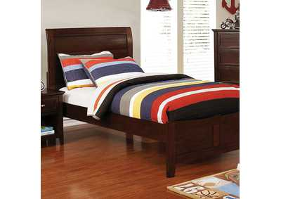 Brogan Brown Twin Sleigh Bed