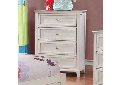 Brogan Antique White Chest,Furniture of America