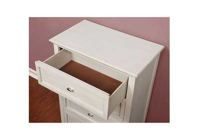 Brogan Antique White Night Stand,Furniture of America