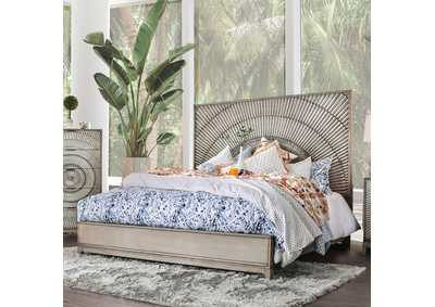 Kamalah Antique Gray Queen Bed