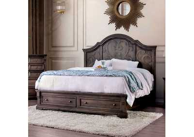 Amadora Walnut California King Bed