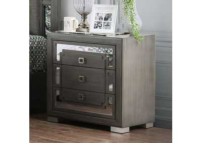 Jeanine Gray 3 Drawer Nightstand,Furniture of America
