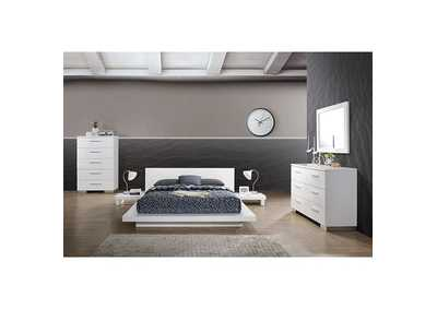 Christie White Eastern King Platform Bed,Furniture of America