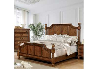 Mantador Brown California King Poster Bed