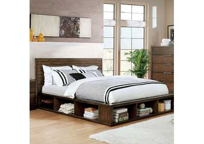 Tolna Brown California King Storage Platform Bed