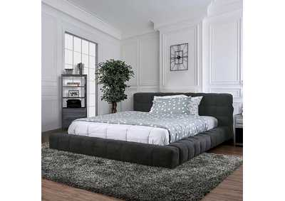 Wolsey Dark Gray Eastern King Bed,Furniture of America