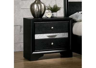 Chrissy Black Night Stand,Furniture of America