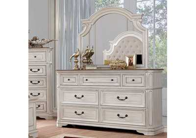 Pembroke Antique Whitewash Dresser