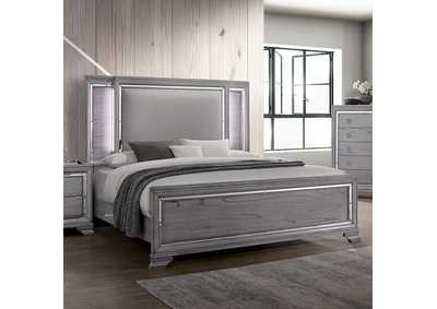 Alanis Light Gray Eastern King Bed,Furniture of America