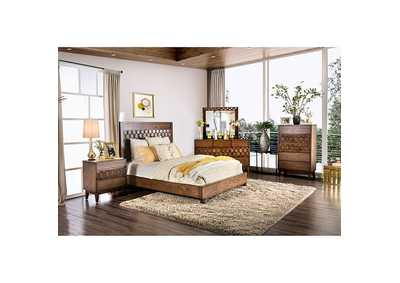 Kallisto Chestnut Brown California King Panel Bed,Furniture of America