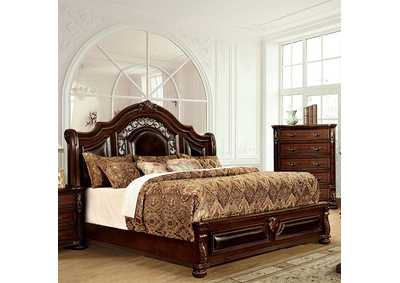 Flandreau Brown Queen Platform Bed,Furniture of America