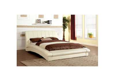 Image for Vizela Ivory Twin Arched Platform Bed