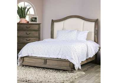 Belgrade Rustic Natural Tone Queen Bed