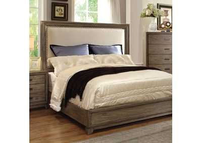 Antler Natural Ash Queen Upholstered Bed,Furniture of America