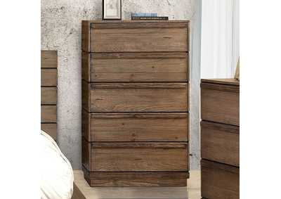 Coimbra Rustic Natural Tone Drawer Chest,Furniture of America