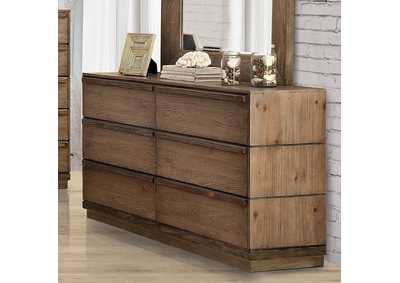 Coimbra Rustic Natural Tone Dresser,Furniture of America