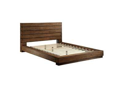 Coimbra Rustic Natural Tone Queen Platform Bed,Furniture of America
