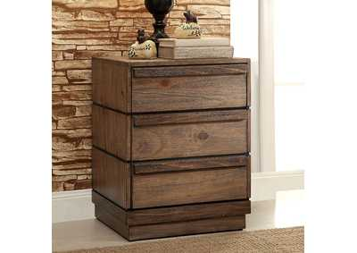 Coimbra Rustic Natural Tone Nightstand,Furniture of America